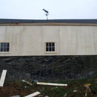 Back of barn after
