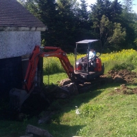Excavating the barn